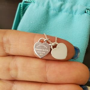 Tiffany & Co. Jewelry - Tiffany's double heart mini pendant necklace